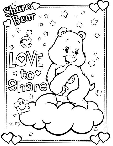 share bear coloring pages care bears coloring pages coloringsuite com