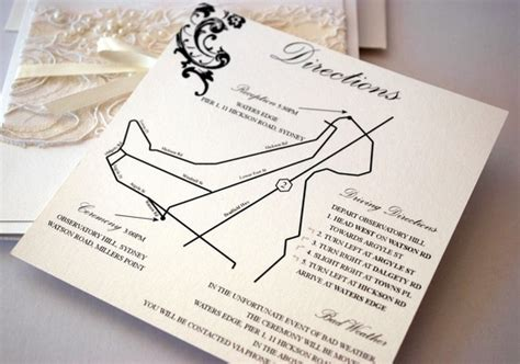 map wedding invitation insert designer special occasion stationery cakes cupcakes