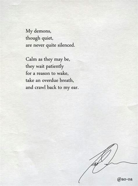 Be Still My Darkened by Inner Demons Quotes Demons And To Be