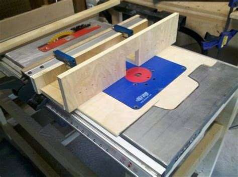 router table insert template router table insert and fence by bd187 lumberjocks