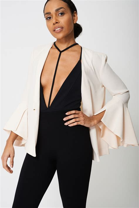 blazer branded bell sleeve blazer ex branded v10 clothing