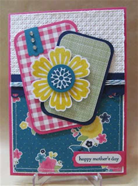 savvy handmade cards pink zebra mother s day card savvy handmade cards gingham garden mother s day card