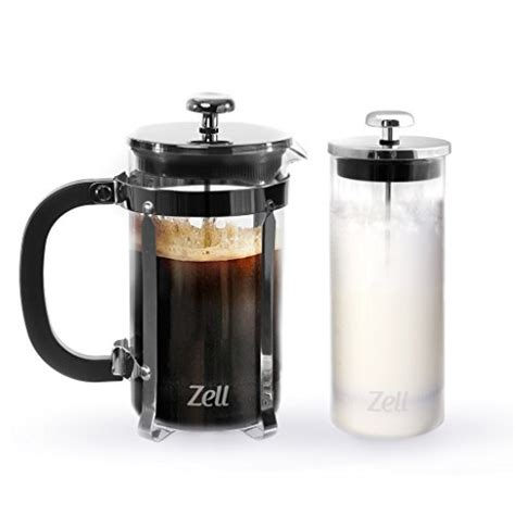zell presses press coffee maker and glass milk frother set 34 oz ebay