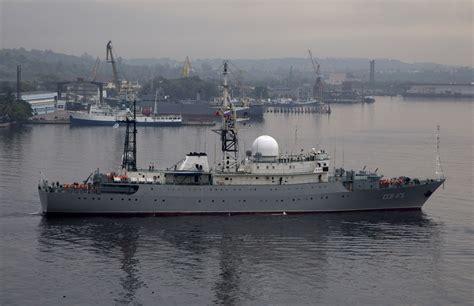 russian spy boat coast guard tracking russian spy ship near submarine base