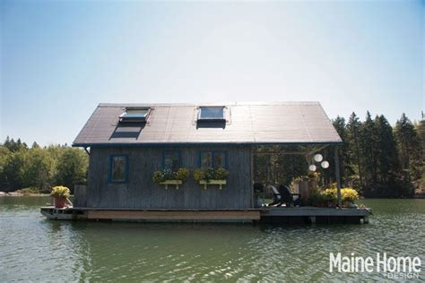 images about tiny house communities on floating a tiny 240 square foot floating house in maine