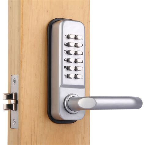 bedroom locks mechanical password entry door locks button lock castle