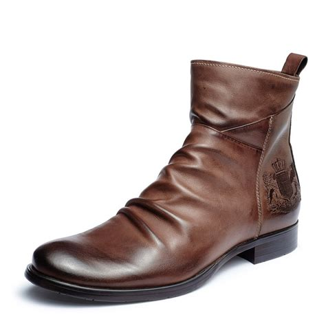 mens leather ankle boots boot ri