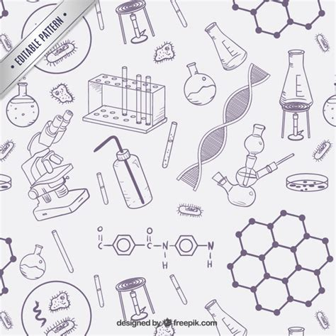 svg pattern object science objects pattern vector free download