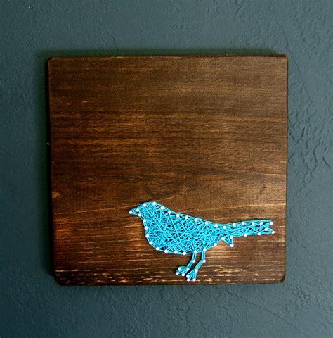 string art pattern bird blue bird silhouette modern string art tablet