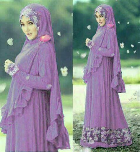 Baju Muslim Gamis Syari Murah Fauzia Set Ungu busana muslim modern busana wanita terbaru busana muslim murah apexwallpapers