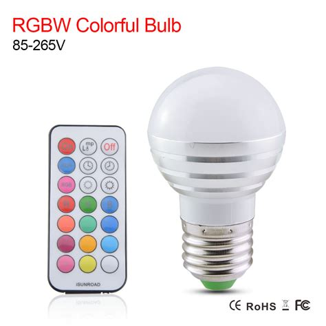 Lu Led Bulb 5w In Lite E27 220v rgbw led bulb l e27 light bulbs ac 110v 220v 5w rgb spotlight magic color bulb