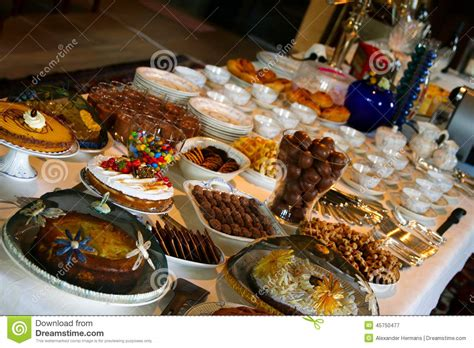 table of food table of delicious food stock image image of