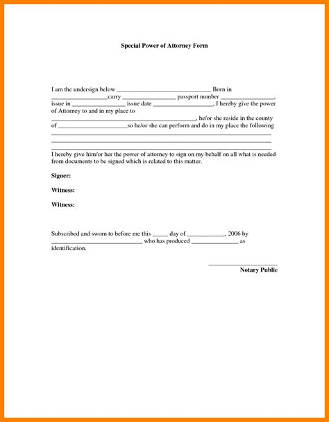 5 special power of attorney form cfo cover letter