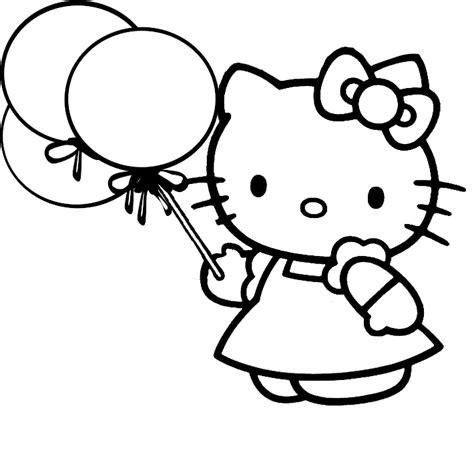 belajar mewarnai gambar untuk anak tokoh kartun hello si kucing yang lucu dan imut