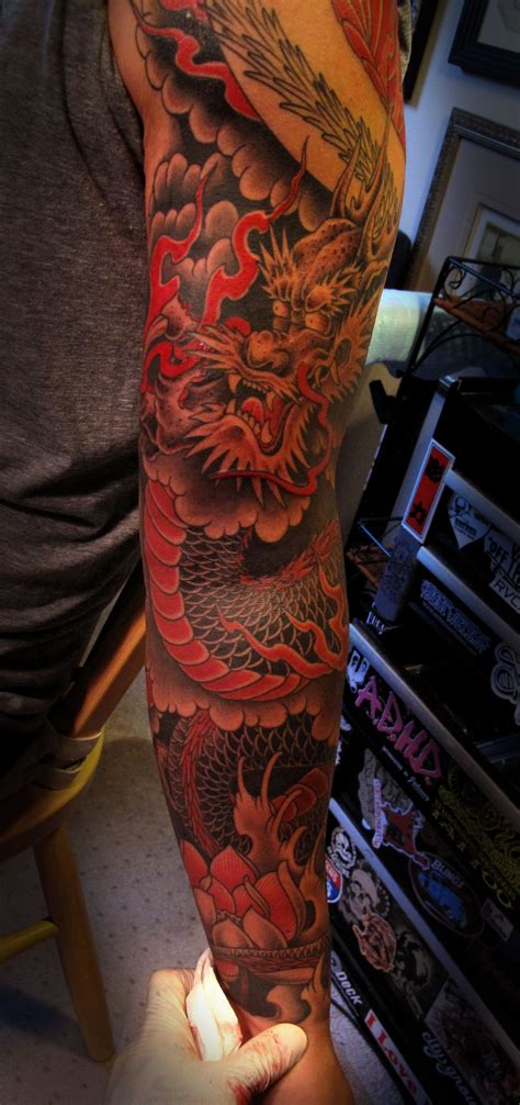 dragon sleeve tattoo japanese tattoos designs ideas and meaning tattoos for you