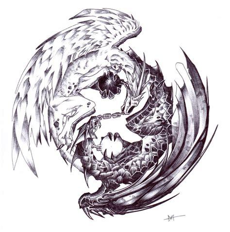 yin yang dragon tattoo yin yang dragon tattoo danielhuscroft com
