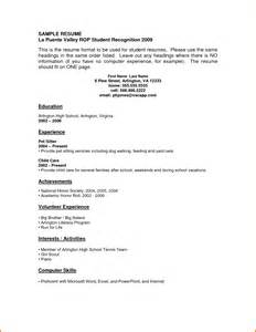 resume templates for no work experience 6 resume no experience sle financial statement