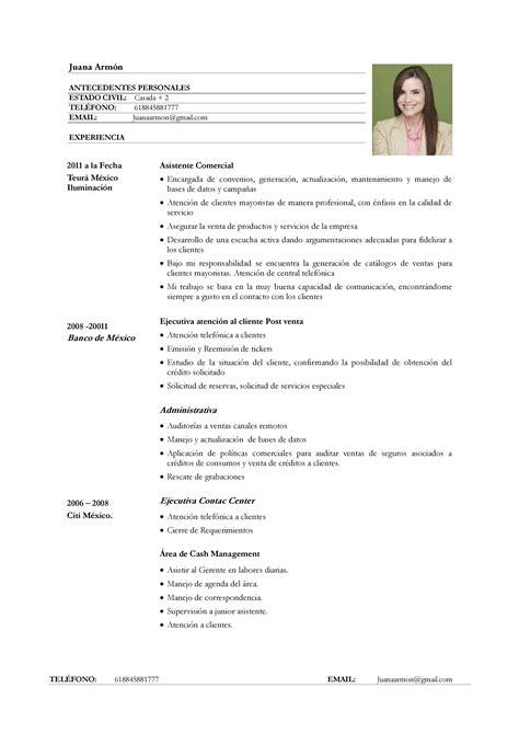 Modelo Curriculum De Trabajo Ejemplo De Curr 237 Culum Vitae Para Servicio De Atenci 243 N Al Cliente Paperblog
