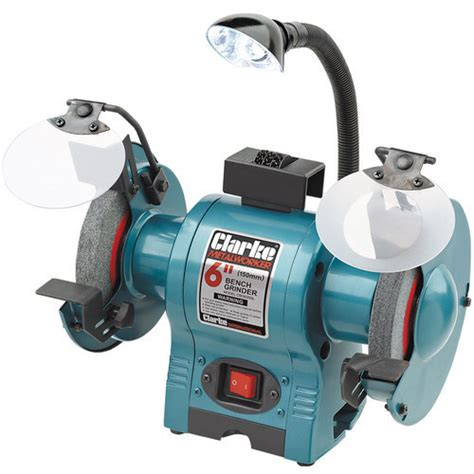 clarke bench grinder clarke tools chronos clarke cbg6250l 6 bench grinder with l
