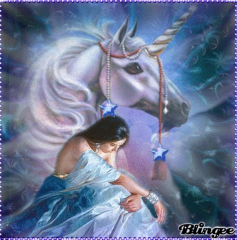 imagenes de unicornios anime unicornio azul fotograf 237 a 132491018 blingee com