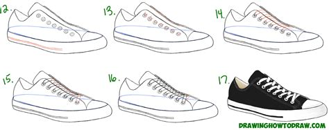 how to draw shoes sneakers drawing www pixshark images galleries
