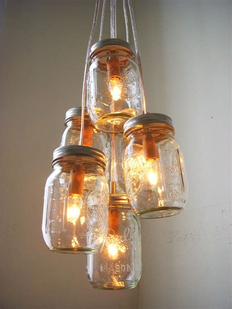 How To Make A Pendant Light Fixture How To Create Jar Lighting Fixtures Homesfeed