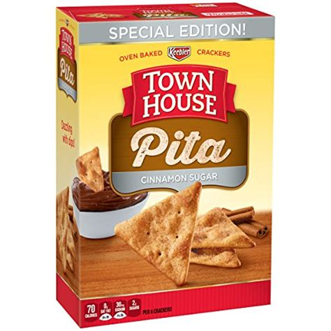 town house pita chips town house pita cinnamon sugar 9 5 ounce food beverages tobacco food items snack