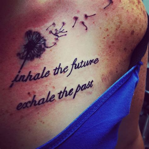 past and future tattoos dandelion inhale the future exhale the past tattoos i
