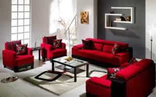 Dark red furniture color for living room