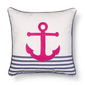threshold embroidered anchor decorative pillow target