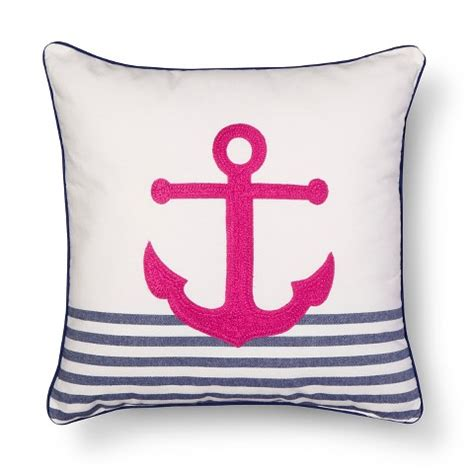 Decorative Pillows At Target by Threshold Embroidered Anchor Decorative Pillow Target
