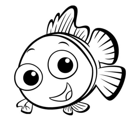 coloring page of small fish small fish coloring page supercoloring com