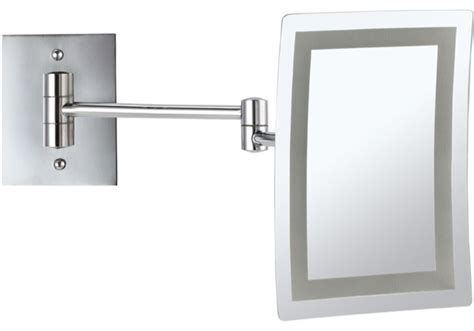 bathroom makeup mirror wall mount wall mounted square led 3x makeup mirror contemporary