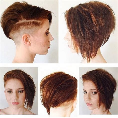 steep asymetrical side shave bob haircuts 20 sexy stacked haircuts for short hair you can easily