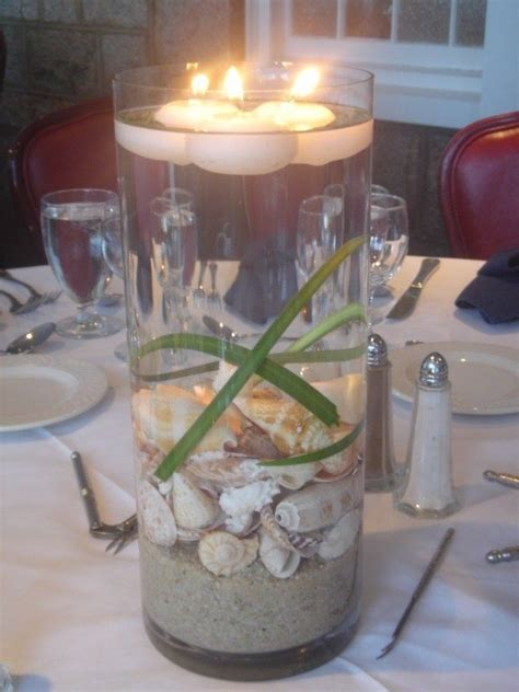 great alternative to flower centerpieces for beach themed