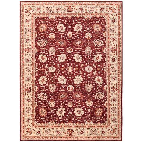 afghan knotted vegetable dye oushak wool rug 8 11 x