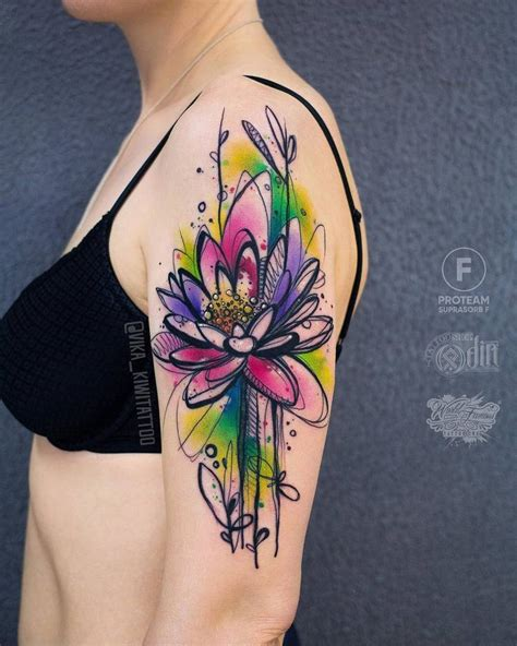watercolor tattoo full sleeve 40 graphic watercolor tattoos by vika kiwi tattooadore