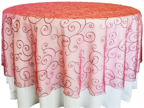 embroidered organza table overlays wholesale