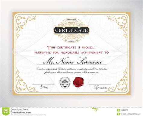 certificate design elegant elegant certificate template stock vector illustration