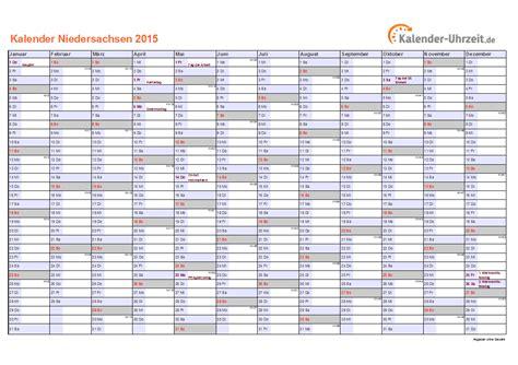 Kalender 2015 A4 Feiertage 2015 Niedersachsen Kalender