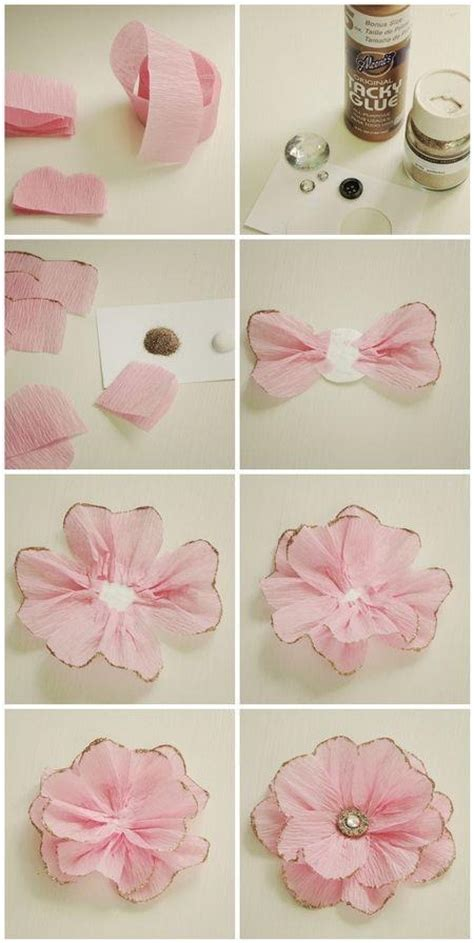How To Make Crate Paper Flowers - diy crepe paper pictures photos and images for