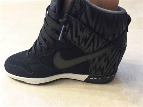 wedge heel sneakers nike my superficial endeavors nike dunk sky hi wedge sneakers