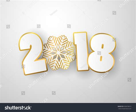 new year background paper vector happy new year 2018 background stock vector