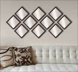 Mirror Sets Wall Decor 10 Decorative Mirrors In Brown Frame Framed Canvas Art