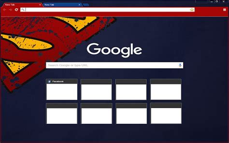 theme google chrome red superman theme red on blue chrome web store