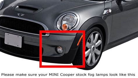 r56 fog light replacement oem fit mini cooper 15w led daytime running lights fog