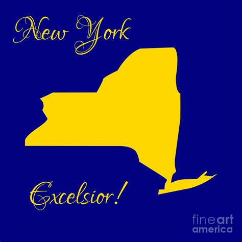 new york state colors new york map in state colors blue and gold with state