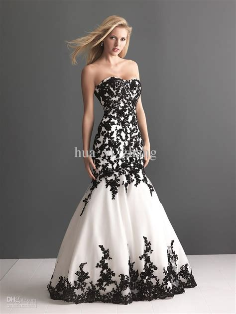 White Black Wedding Dresses by 30 Black And White Wedding Dresses Combination Fashion Fuz