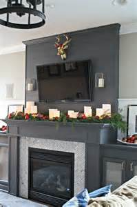 grey fireplace tips for decorating around the tv from thrifty decor