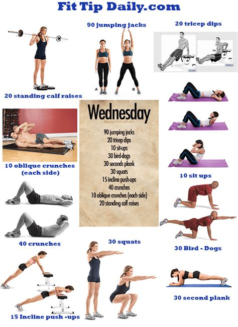 exercises dissected wednesday fit tip daily